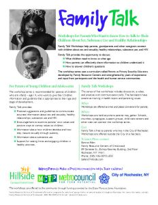 Click to view full size Family Talk Flyer